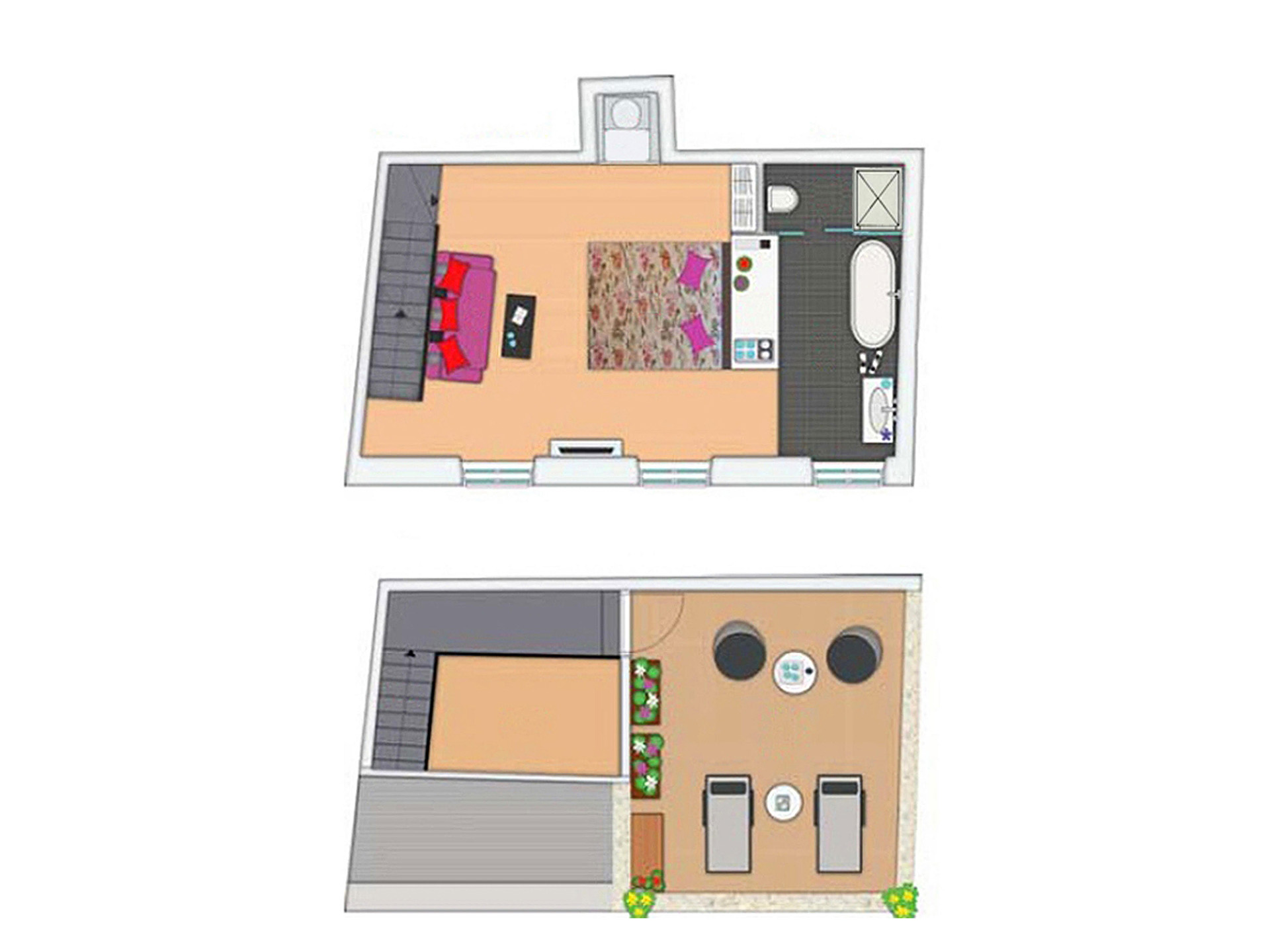 Riva Luxury Suite & Terrace Layout