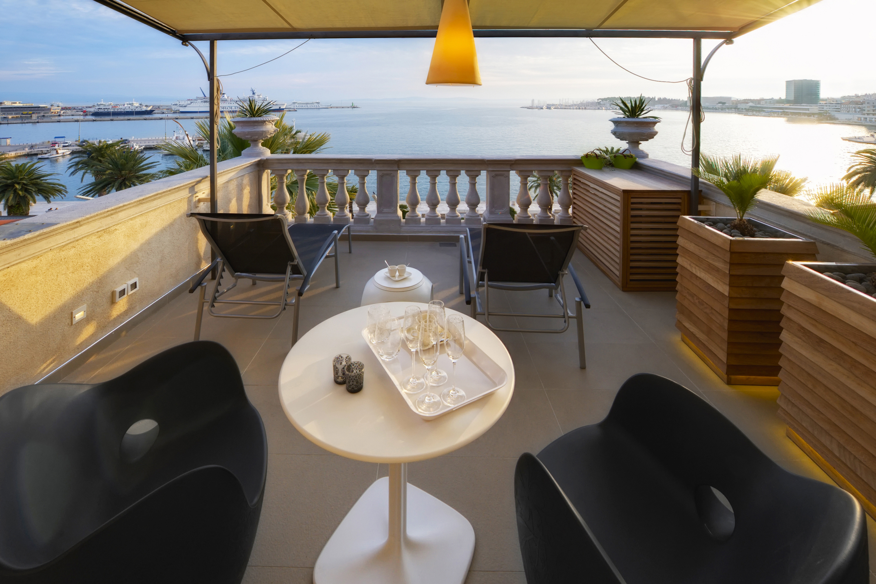 Riva Luxury Suite terrace with sea view